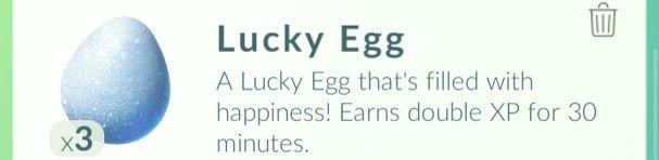 Счастливые яйца в Pokemon GO