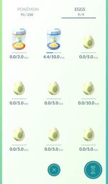 Яйца в игре Покемон Гоу