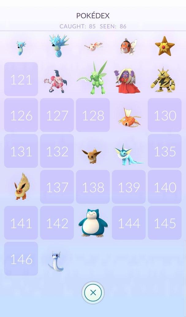 Сколько покемонов в Pokemon GO покедексе