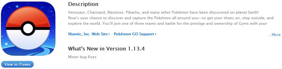 Значок приложения Pokemon GO в App Store