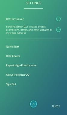 Как выйти из Покемон ГО на Андроид?
